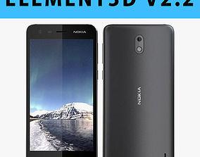 E3D - Nokia 2 Black 3D model 3D