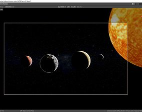 3D model Little solar system with texture