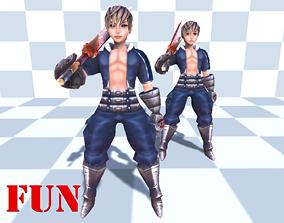 Npc Warrior boy 3D model