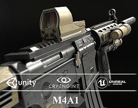 M4A1 3D Model game-ready PBR