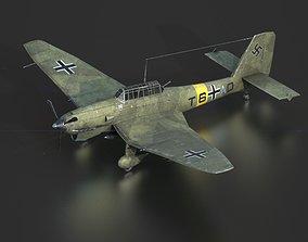 3D model low-poly JUNKERS JU 87 STUKA