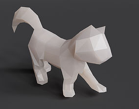 3D printable model Low Poly Kitten 01