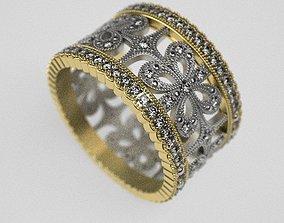 3D print model Bow wedding ring - original