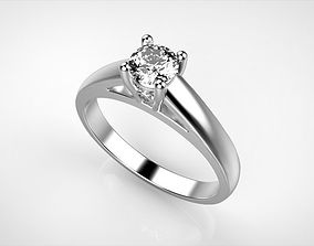 Cathedral Solitaire Engagement Ring 3D printable model