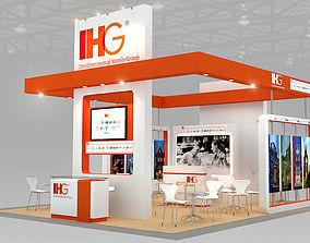 Booth IHG Hotel design size 7 X 6m 42sqm 3D model