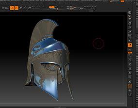greek helmet-3d print model