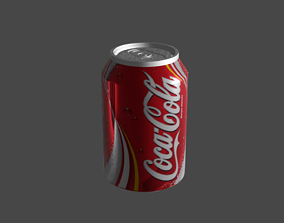 3D model low-poly coke can cola