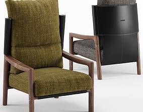 3D model Vera Bergere armchair - Porada