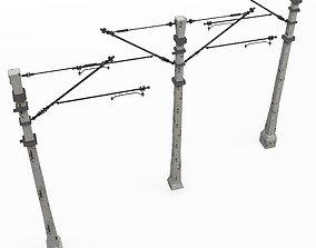 Train poles 3D