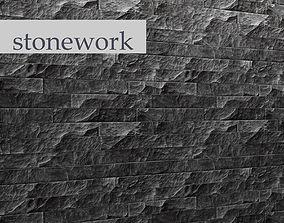 3D model Stone wall slate