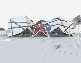 3D model Modern Museum Building 01