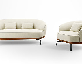 Giorgetti Tamino sofa and armchair collection 3D