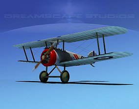 3D rigged engine Sopwith Camel