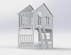 Bed village House 3D model
