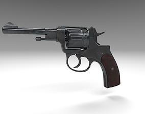 3D asset Revolver Nagant M1895