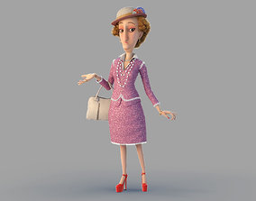 Cartoon Woman Rigged 3D