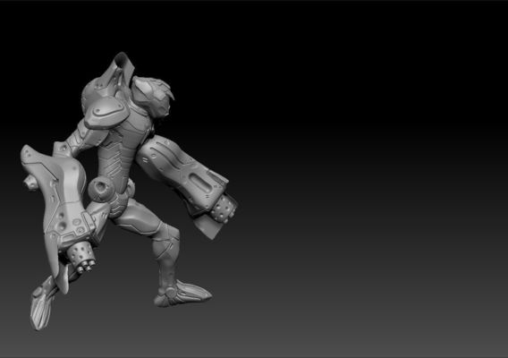 Gunslinger Cyborg Miniature Showcase