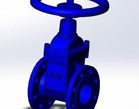 3D Flange Wedge valve DN 80