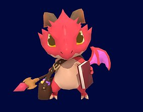 Asset - Game - Character - Baby Dragon - Low Poly 3D model