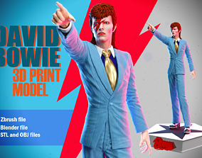David Bowie 3d print figure