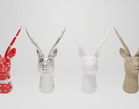 Deer decoration head 3D asset