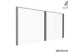 Aluprof MB Glass Barrier 003 M 0428 3DsMax