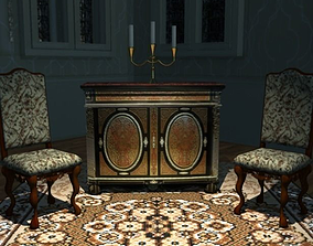 3D asset Boulle Cabinet