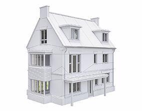 3D model Neighborhood Houses P30