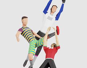 Football Men 3D asset game-ready