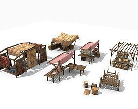 3D model ancient market