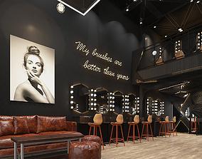 3D model Makeup salon - industrial style - modern -