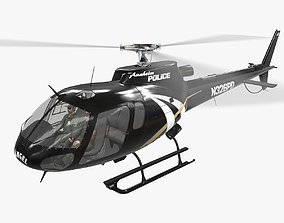 AS-350 Anaheim Police Animated 3D asset game-ready