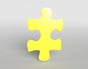 3D asset Jigsaw Symbol v1 004