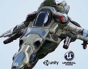 VR / AR ready Interceptor Spaceship - game model