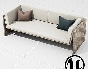 3D asset Dedon Slimline Sofa UE4