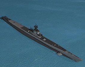 Gato Class Submarine SS-230 USS Finback 3D model