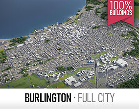 3D model Burlington - city and surroundings