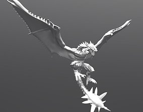Game fictional charaters Dragon 3D asset