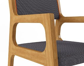 Elegant Cafe Chair 3D asset