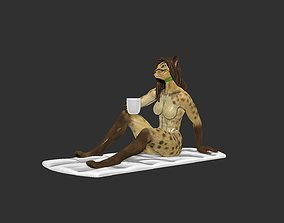 Furry Kopy Luwak and her morning cup of 3D printable model