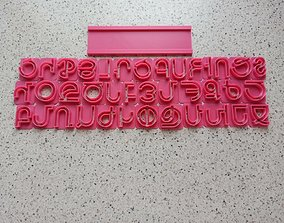 cookie cutter Armenian alphabet 3D print model