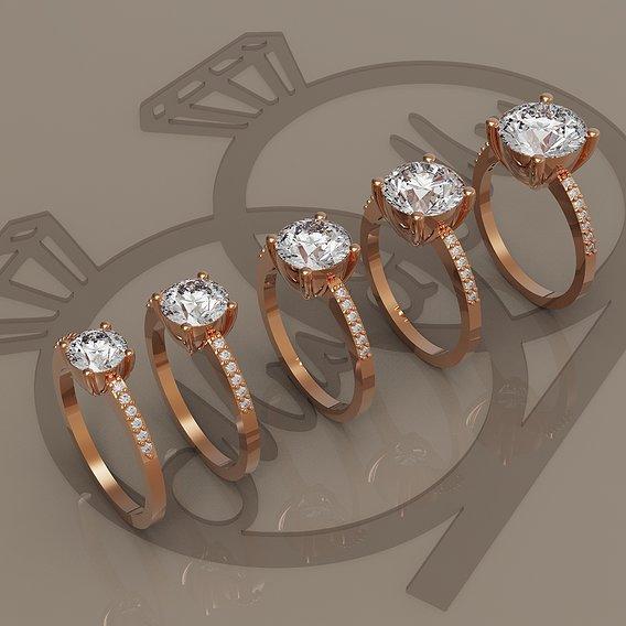 Simple round rings