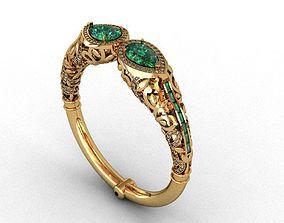 jewelwry emerald bracelet 3D print model