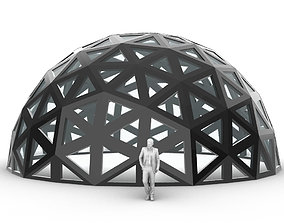 3D model Geodesic Dome with Dynamic Perforations and 1