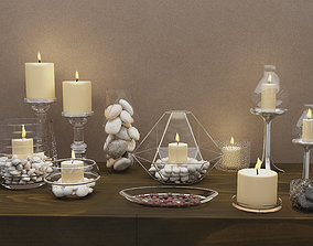 3D model lantern Candle decoration set