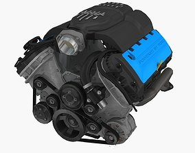 3D asset Ford Coyote Boss 302 engine