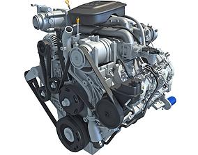 rwd 3D model Duramax Diesel V8 Turbo Engine