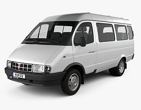 3D model GAZ 3221 Gazelle Passenger Van 1996