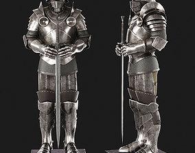 Knight Armor 3D model greaves