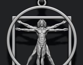 3D print model Vitruvian Man pendant